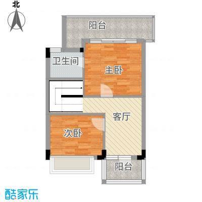 盈彩美地132.00㎡A型复式二层户型4室2厅2卫1厨