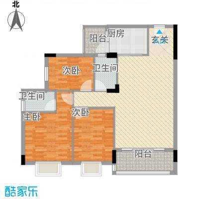 龙日花苑三期14.71㎡B3栋-202户型3室2厅2卫