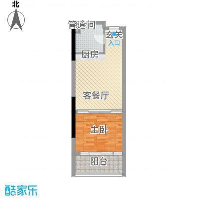 金象领域47.00㎡户型1室1厅1卫
