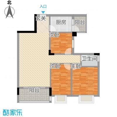 龙日花苑三期3.21㎡B1栋-201户型3室2厅1卫