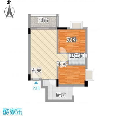 龙日花苑三期71.16㎡B3栋-104户型2室2厅1卫