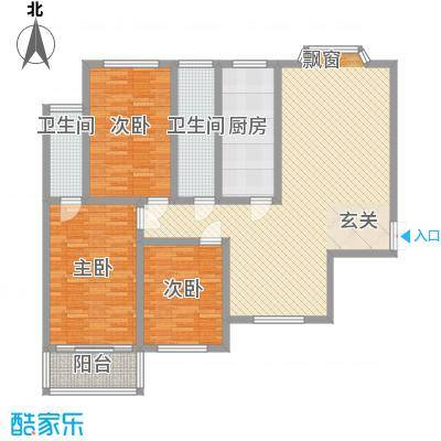 煤炭医院家属楼153.00㎡户型3室