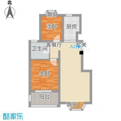 华轩居81.00㎡户型2室