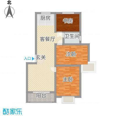 万泰秀水湾15.70㎡三期高层A户型3室2厅1卫1厨