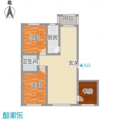 美韵星海18.86㎡二期A户型3室2厅1卫