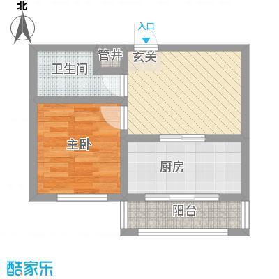 美韵星海5.22㎡二期E户型1室1厅1卫