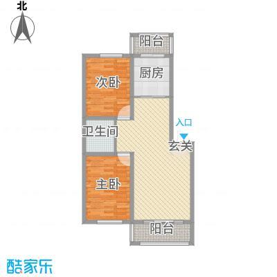 美韵星海84.00㎡二期B户型2室2厅1卫