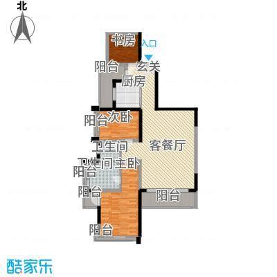 菩提园154.20㎡户型3室2厅2卫
