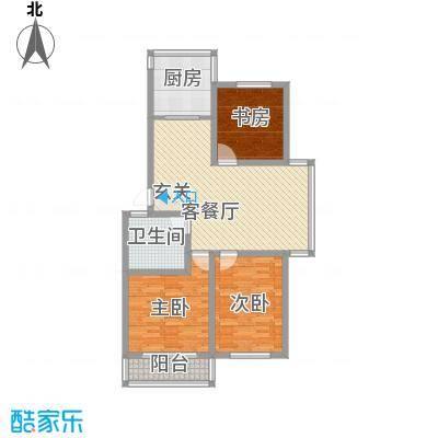 上东街区美一方112.60㎡E户型3室2厅1卫