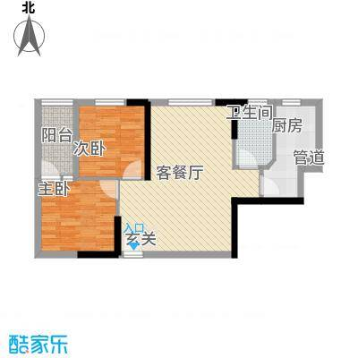 益鑫大厦68.00㎡户型2室2厅1卫1厨