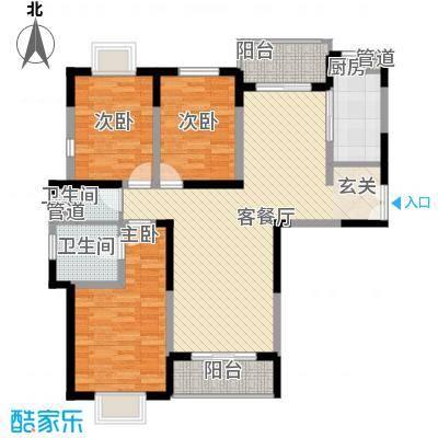 枫林园131.00㎡户型3室