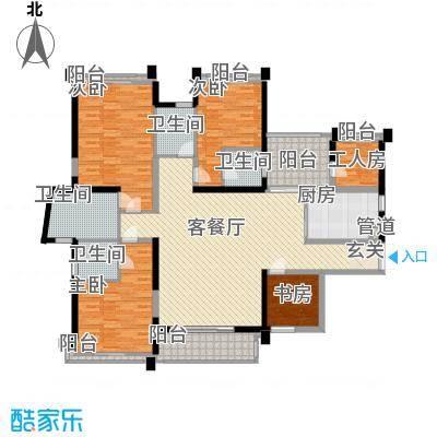 菩提园221.63㎡A2户型4室2厅4卫