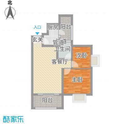 胜利新村75.00㎡户型2室