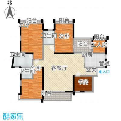 菩提园21.71㎡户型4室2厅3卫