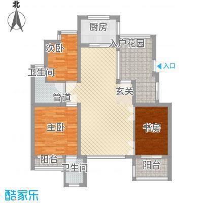 翠屏紫气钟山111.00㎡户型3室