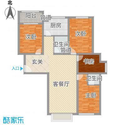 天地十二坊户型4室2厅