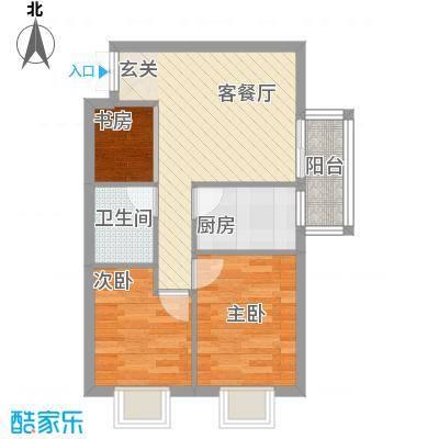 居易家园64.26㎡2户型3室1厅1卫1厨