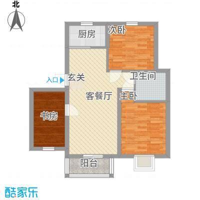 汇景豪庭85.22㎡C321户型3室2厅1卫1厨