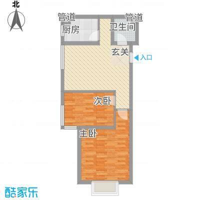 新天地购物城74.00㎡一期6号楼恋日佳园户型2室1厅1卫1厨