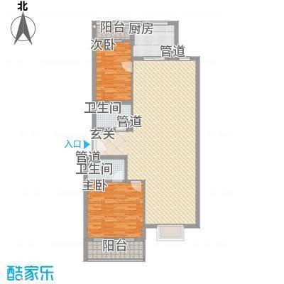 新天地购物城135.61㎡风尚生活馆户型2室1厅1卫2厨