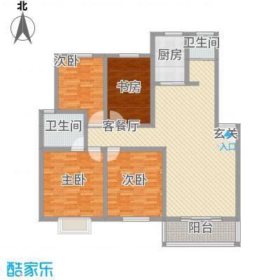 怡华香缇丽舍13.70㎡L户型3室2厅2卫1厨