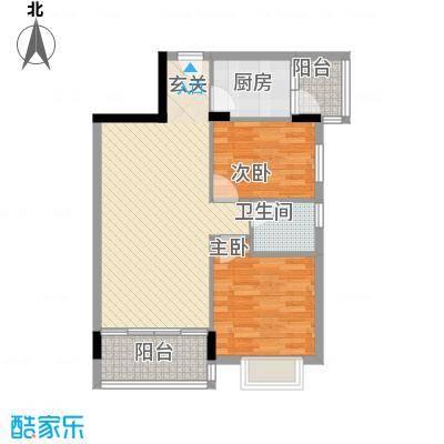 龙日花苑三期77.13㎡B1栋-101户型2室2厅1卫