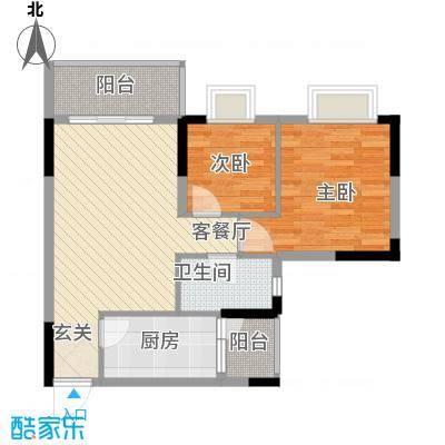 西街苑户型2室