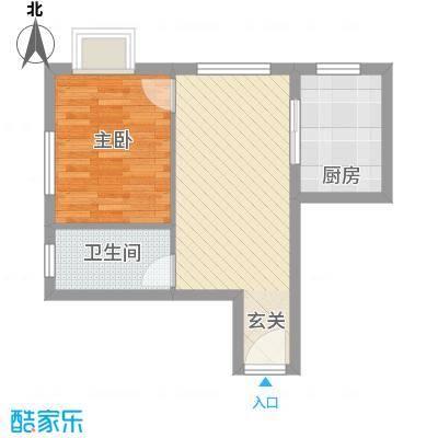 新天地购物城53.50㎡白领公寓户型1室1厅1卫1厨