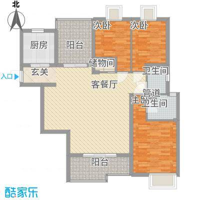 金旺新苑122.00㎡户型3室