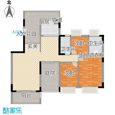 华泰大厦118.00㎡户型3室
