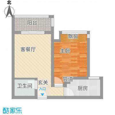 中宏新界56.50㎡E1-2户型1室1厅1卫1厨