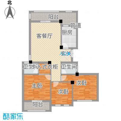 春晓源燕园136.75㎡高层25#-02户型3室2厅2卫1厨
