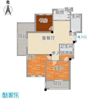 春晓源燕园138.15㎡高层25#-05户型3室2厅2卫1厨