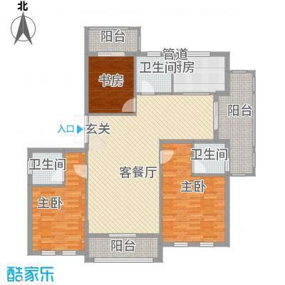 春晓源燕园163.73㎡高层25#-01户型3室2厅3卫1厨