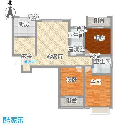 盛景家园144.00㎡户型3室