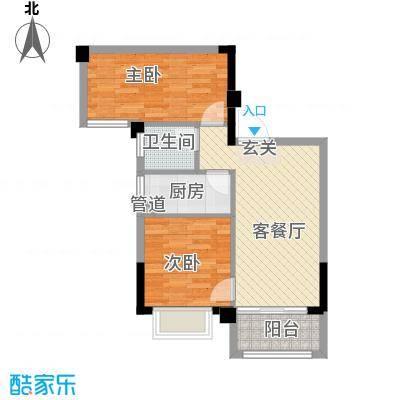 简爱社区户型2室