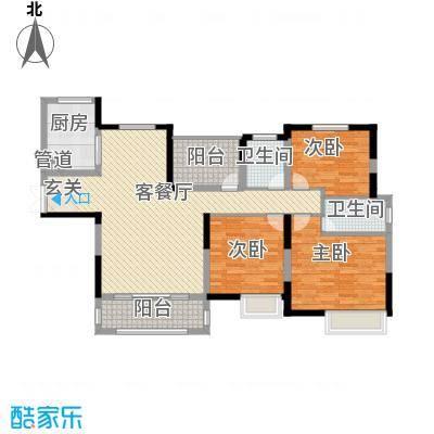 中建・城中壹号公馆143.00㎡一期1号楼标准层J户型3室2厅2卫1厨