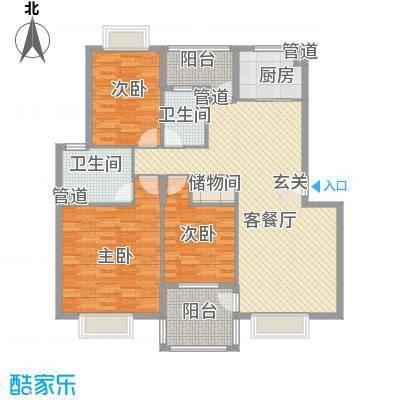 汉口春天杨柳晓月户型3室2厅2卫1厨
