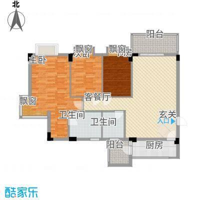 碧海名苑18.18㎡户型3室2厅2卫1厨
