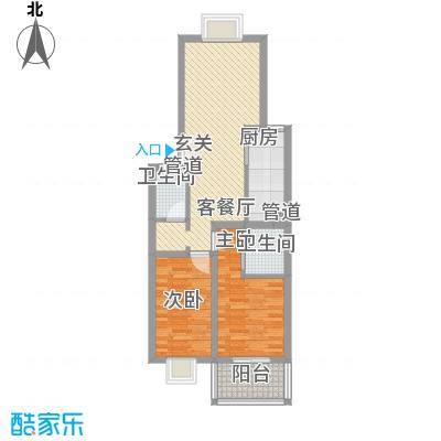 福润康城86.76㎡户型3室2厅1卫