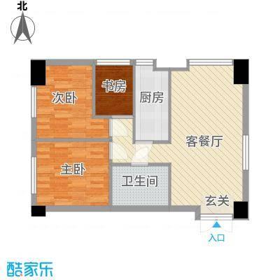 金融街・漫香林第6区88.00㎡A户型3室2厅1卫1厨
