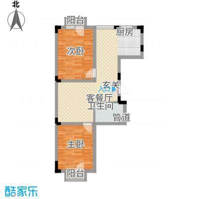 亿洲百旺郦城74.85㎡户型