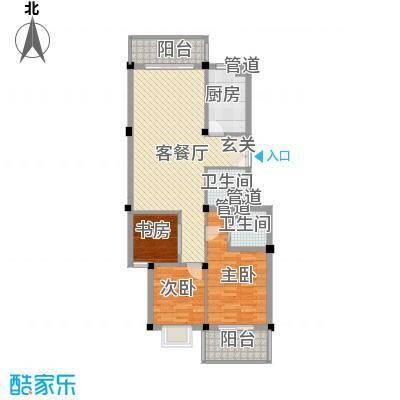 河风丽庭113.00㎡户型3室2厅2卫1厨