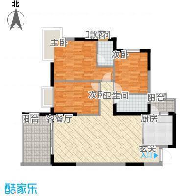 金岸花苑户型3室