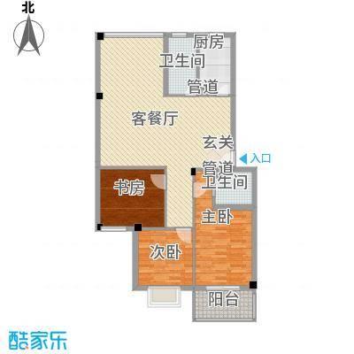 河风丽庭124.00㎡户型3室2厅2卫1厨