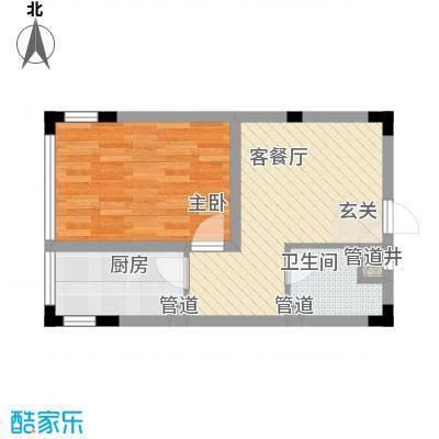 亿洲百旺郦城51.13㎡户型