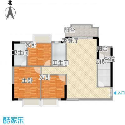 金岸花苑121.00㎡户型4室