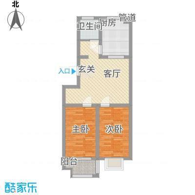 信佳花园8.00㎡二期住宅标准层A户型2室1厅1卫1厨