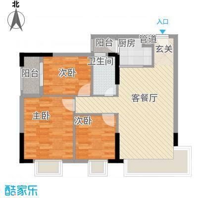 金惠大厦88.24㎡户型3室2厅