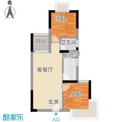 金惠大厦64.00㎡户型2室2厅